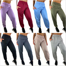 DAMEN JOGGINGHOSE JOGGER SPORTHOSE FREIZEIT UNI SWEATPANTS TRAINING LOUNGEWEAR