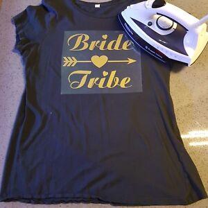 Bride Tribe Hen Night Personalised Iron On Transfer Vinyl Heatseal Wedding Party