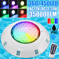 450LED 350000LM RGB Swimming Pool LED Light IP68 Underwater Fountain  Y