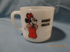 New listing Vintage Mickey And Minnie Mouse Fire King Milk Glass Coffee Cup