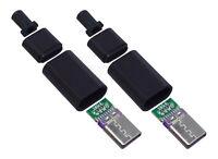 2 Stück USB Type-C IEC 62680-1-3 Stecker 4-Teilig für Arduino Prototyping