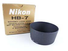 NIKON GENUINE HB-7 BAYONET LENS HOOD FOR NIKKOR 80MM-200MM F/2.8D BOXED FF