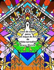 Livro de Colorir Perus Com Um Toque de Art Deco de Artista Surrealista Grace...