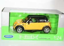 Welly - BNW MINI COOPER (Yellow) Die Cast Model - Scale 1:24