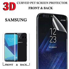 Samsung Galaxy S8 3D Completo Protector De Pantalla Curvada Pegamento-Front & Back-claro