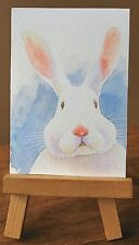 ACEO Limited Edition Giclee Print Original Watercolor painting bunny dollhouse