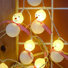 20 LED Christmas String Light Snowman Santa Claus Fairy Light Party Home Decor