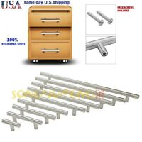 10 PCS Stainless Steel Kitchen Cabinet Drawer Door Handles T bar Pulls Hardware
