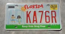 Florida 2004 Keep Kids Drug Free  license plate #  KA 76 R