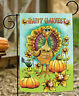 Toland Happy Harvest 12.5 x 18 Colorful Flower Thanksgiving Turkey Garden Flag
