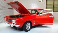 Ford Capri MK1 1.3 1.6 V6 1969 1:24 Maßstab rot Welly V detaillierte