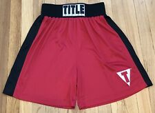 Title Boxing Red / Black Trunks Wrestling Warmup Shorts size Small Free Shipping