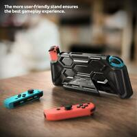 For Nintendo Switch Console, Mumba New Hand Grips Cover with Kickstand Hard Case