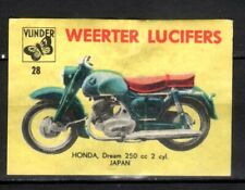 MATCHBOX LABELS-HOLLAND  Motorbikes, Honda 250cc,no.28 ,2nd series, Vlinder