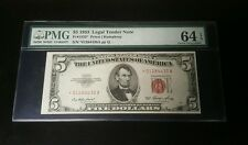 1953 Star Five Dollar Legal Tender Note Fr#1532* PMG 64 Red Seal CHOICE UNC