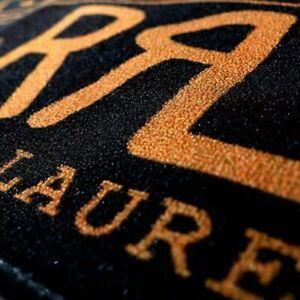 "Genuine American Double RL ""Black Orange Est 1993 Logo"" Floor Mats Rugs Carpets"
