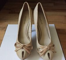 Bebe Shoe Beige Open Toe  size 7.5 New With Tags  R.V. $129.00