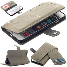for Apple iPhone 6/6s PU Leather Wallet Case Shockproof Card Pocket Stand Cover