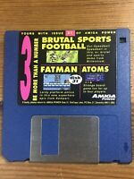 Amiga Power Magazine cover disk 31 Brutal Sports Football Fatman TESTED WORKING