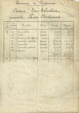 Documento Catastale Podere San Salvatore Comune Medicina con Mappa 1887
