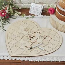 GINGER RAY Wooden Jigsaw Wedding Guestbook Alternative Guest Book