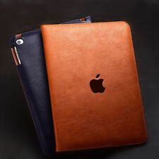 """For iPad 10.2"""" 7th Gen 2019 & 9.7"""" (5/6th Gen) Genuine Leather Stand Cover Case"""