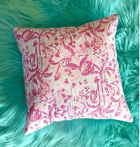 New throw pillow made with LILLY PULITZER Swing Of Things fabric