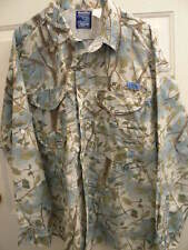 RealSky FISHING CAMOUFLAGE SHIRT-MENS XL/EX-UNUSUAL CAMO-VENTED CAPE-4 POCKETS
