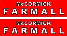 """2 McCormick Farmall  Tractor Decals  8""""   FREE SHIPPING"""