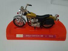 GUILOY HARLEY DAVIDSON AMF Motorcycle TOY Bike 12172 Spain Orange Base