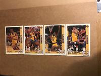 🏀NBA 1991-92 Upper Deck LA Lakers (4) Card Lot - Mint
