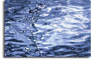 """8"""" X10"""" Spectrum SC 130.8W Blue Waterglass  SilverCoats Mirror"""