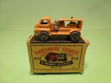 LESNEY MOKO MATCHBOX 28 BEDFORD COMPRESSOR - YELLOW - RARE - NEAR MINT IN BOX