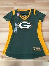 Women's Green Bay Packers Jersey Tee T Shirt Size Medium NFL Rhinestones