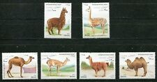 AFGHANISTAN 1997 CAMELS AND LLAMAS MINT COMPLETE SET OF 6 STAMPS!