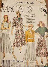 Vtg McCall's Palmer/Pletsch pattern 2934 Misses Jacket, Top, Skirt sz 12 bust 34