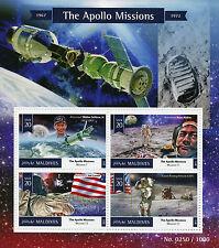 Maldives 2015 MNH Apollo Missions 4v M/S Space Astronauts Buzz Aldrin Jim Lovell