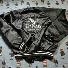VTG Field of Dreams Dyersville Iowa Movie Satin Jacket XL Baseball Hartwell USA