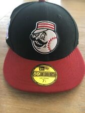 MLB Cincinnati Reds 59FIFTY New Era Red Black Low Crown Fitted Hat Sz 7 1/4 New