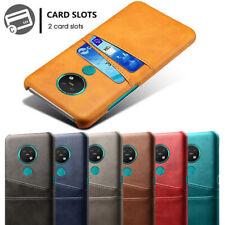 For Nokia 7.2 6.2 4.2 3.2 2.2 Slim Leather Wallet Card Pocket Case Matte Cover
