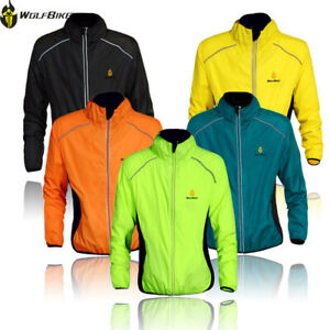 Men Cycling Windstopper MTB Bike Jacket Windproof Long Sleeve Waterproof Coat