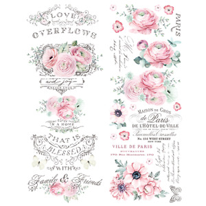 Floral Furniture Decals ReDesign Prima Furniture Transfers Rub On Love Overflows