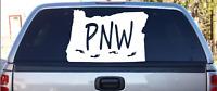 Oregon State PNW Bigfoot territory Vinyl Decal car bumper sticker window