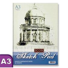 Premier Stationery Icon 90 gsm A3 30 Sheets Spiral Sketch Pad-S2810504