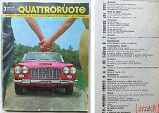 QUATTRORUOTE N 67 Luglio 1961 Lancia Flaminia convertibile Austin A 40 Chevrolet