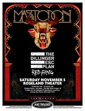 MASTODON 2011 Gig POSTER Portland Oregon Concert