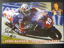 Low Lands Racing Suzuki Superstock 1000 2003 #10 John Bakker (D) signed