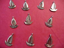 Tibetan Silver Boat/Yacht/Sailing Charms x10 per pack