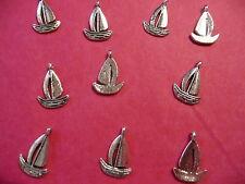 Tibetan Silver Boat/Yacht/Sailing Charms x10 per pack
