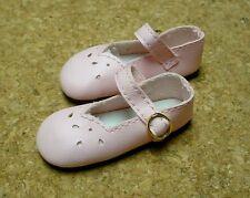 "Doll Shoes, SLIM*  58mm LT PINK Girl Dressy - fits 14"" Kish"
